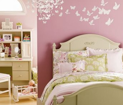 Decorar dormitorios con mariposas decoracion estilopeques - Decorar dormitorio nina ...
