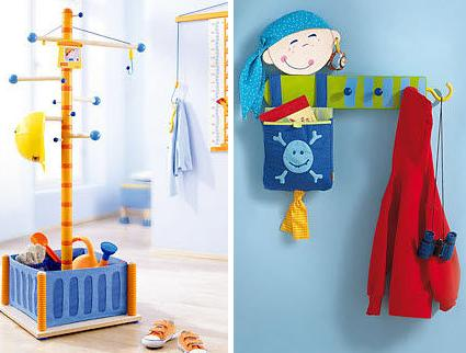 Percheros para habitaciones infantiles decoracion for Perchero pared infantil